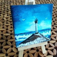 I am Samantha Vincent and I create things. Hand painted items in London, Ontario, Canada. Art - Painting and Drawings available to purchase as well as custom pieces Lighthouse Painting, Mini Canvas, Craft Items, Holiday Gifts, Hand Painted, Canvas Paintings, Easel, Create, Drawings