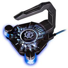 ENHANCE Bungee Souris Gaming USB 2.0 Avec Bras Flexible en silicone et LED Intégrés – Support / Contrôle du cordon de souris, transfert de…