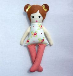 red headed rag doll