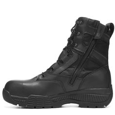 "Timberland Pro Men's 8"" Valor Medium/Wide Composite Toe Work Boots (Black Leather)"