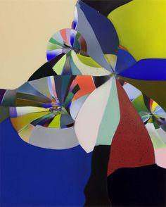 Tauba Auerbach, Shatter VI, 2010  Acrylic and glass on wood panel