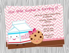 DIY  Girl Cookies and Milk Birthday Party by PinkMonkeyPrints, $7.95