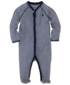 Ralph Lauren Baby Coverall, Baby Boys Striped Coverall
