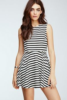Pin for Later: 33 Spring Dresses That Are Totally Mum Approved  Forever 21 Striped Layered Dress (£19)