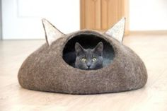 Kattenhuis in vilt van AgnesFelt #canessiblog