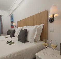 Mountain Or Pool View - Samaina Inn Hotel Samos, Floating Nightstand, Seaside, Hotels, Mountain, Bed, Table, Room, Furniture