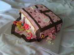 Louis Vuitton Diaper Bag Cake by The Cake Chic, via Flickr
