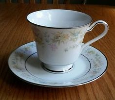 Noritake Blossom Time Tea Cup & Saucer, no dimensions given. $8.99/Set at jlcrafts1 on ebay, 9/26/15