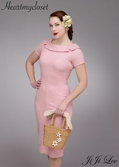 SUE dress vintage 50s style custom made all size by heartmycloset, $87.00