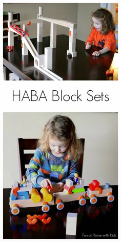 A review of HABA's block sets that encourage learning about scientific concepts through play from Fun at Home with Kids