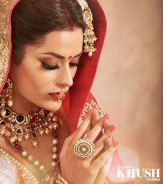 Gini Bhogal is the perfect MUA for your traditional bridal look.  +44(0)208 530 0555 +44(0)7761 273 362 www.beautyjustaroundthecorner.com  Outfit: Ekta Solanki Jewellery: Red Dot Jewels