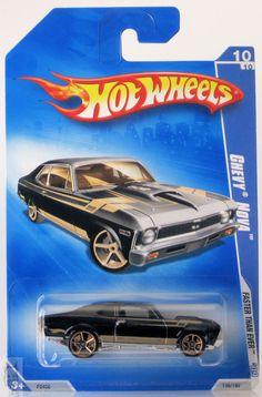 2009 Hot Wheels Faster Than Ever # 136 Chevy Nova 10/10 Black