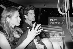 jfk jr and christina haag   JFK Jr. & Christina Haag In Taxi : News Photo
