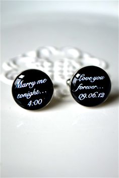 $42 Marry me tonight custom date cufflinks