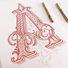 Another letter to collection, wip, Almost done #handlettering #lettering #drawing #typografia #typography #calligraphy #customlettering #liternictwo #letters #type #thedailytype #goodtype #typespire #typegang