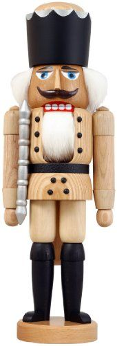 German nutcracker King natural height 39 cm  15 inch original Erzgebirge by Seiffener Volkskunst *** This is an Amazon Affiliate link. Check this awesome product by going to the link at the image.