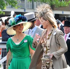 Princess Haya Bin Al Hussein and Sophie Countess Of Wessex attend Royal Ascot Ladies Day on June 17, 2010 in Ascot, England.