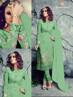 Dress Designer Bollywood Indian Green Party Pakistani Salwar Suit Anarkali 1846 #KriyaCreation #SalwarSuit_StrightFitDress