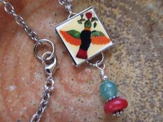 Mexican Tile Necklace by FayWestDesigns, $24.00