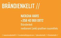 Brändienkelit-käyntikortti 85 x 50 mm, 2-puoli. Visuaalinen toteutus oman ammattitaidon ylläpitämiseksi. Natasha Varis, 2015. – http://www.brandienkelit.fi/