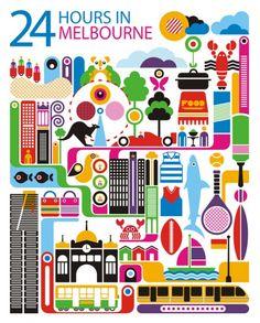 Australia: World City Illustration by Fernando Volken Togni