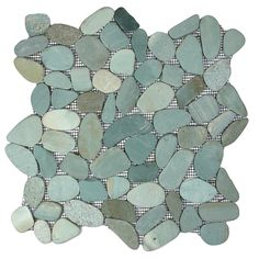 Danube Random Sized Natural Stone Mosaic Tile in Green