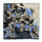 The Wind Gate, 90x90 silk scarf by Marja Kurki Finland