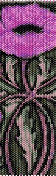 BPPO0001 Poppy Even Count Single Drop Peyote Cuff/Bracelet Pattern