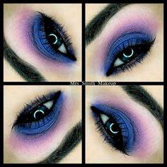 Party time :) #eyemakeup #blueeyeshadow #pinkeyeshadow