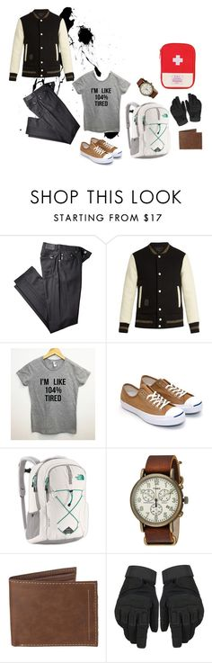 """""""M. 1.0"""" by perwersnatura on Polyvore featuring Marc Jacobs, The North Face, Timex, Levi's, men's fashion i menswear"""