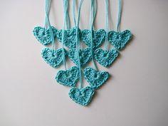 crochet heart ornaments for the tree