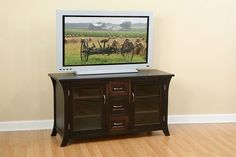 Visit www. for more TV stands and media cabinets. Media Cabinets, Blanket Box, Decorating Ideas, Decor Ideas, Solid Wood Furniture, Oak Tree, Tv Stands, Fish Tank, House Ideas