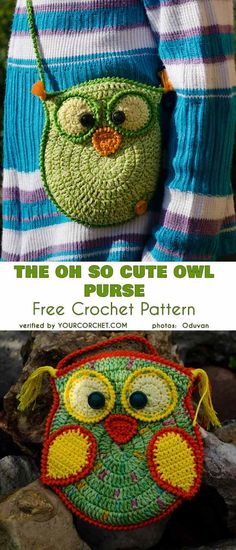 The Oh So Cute Owl Purse Bag Free Crochet Pattern