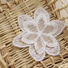 10pcs Cat shape Milk silk Embroidered Lace Applique decoration curtain//Clothing