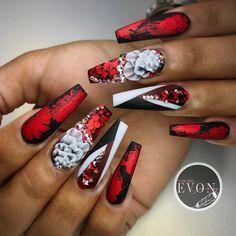 Blood flowers ▫️▫️▫️▫️▫️▫️▫️▫️▫️▫️▫️▫️▫️▫️▫️▫️ #vietnails #vietsalon #nailsmagazine #nailpro #g...