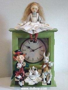 Alice in Wonderland Original Artist Dolls At the Dollery Alice In Wonderland Original, Alice In Wonderland Crafts, Alice In Wonderland Illustrations, Adventures In Wonderland, Wonderland Party, Lewis Carroll, Paper Dolls, Art Dolls, Mad Hatter Tea
