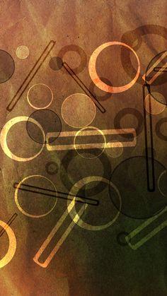Circles Bars Paper Texture iPhone 6 Wallpaper