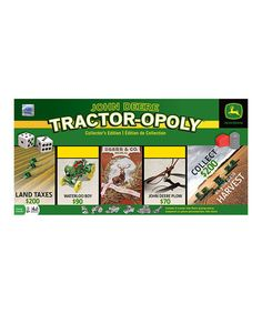 Love this John Deere Tractor-opoly Collector's Edition by John Deere on #zulily! #zulilyfinds