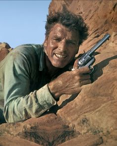 THE PROFESSIONALS (1966) - Burt Lancaster on location in Mexico - Directed by Richard Brooks - Columbia Pictures.
