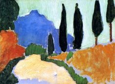 Landscape near Chatou - André Derain was a French artist, painter, sculptor and co-founder of Fauvism with Henri Matisse. Description from pinterest.com. I searched for this on bing.com/images: