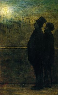 The Nocturnal Travelers Artist: Honore Daumier Start Date: Completion Style: Realism Genre: genre painting Technique: oil Material: wood Dimensions: 28 x 19 cm Gallery: National Museum of Wales, Cardiff, UK Nocturne, Renoir, Monet, National Museum Of Wales, Barbizon School, Honore Daumier, Pier Paolo Pasolini, William Adolphe Bouguereau, Edouard Manet