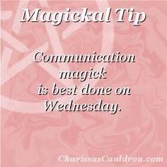Magickal Tip - Communication Wednesday – Charissa's Cauldron