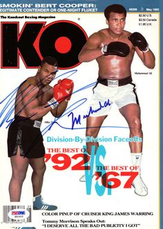 Muhammad Ali Mike Tyson Autographed Signed Magazine Cover PSA DNA S01610 | eBay