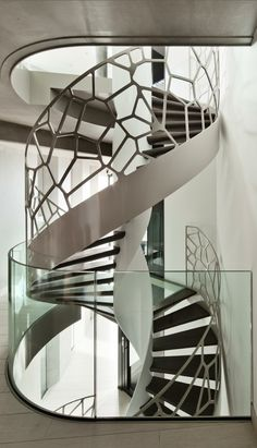 Helical stairs or curved staircase is a graceful form in architecture with it's flowing helix and absent centre column. Check our helical staircase photogallery