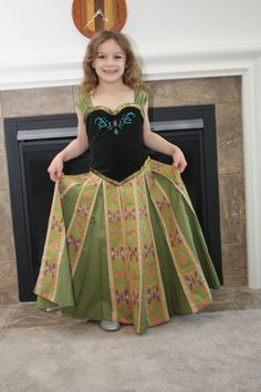 US SELLER ANNA  COSTUME PLAY DRESS 3T 4T 5T 4 5 6 7 FROZEN MOVIE CORONATION