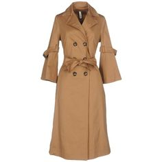 Souvenir Overcoat (¥28,725) ❤ liked on Polyvore featuring outerwear, coats, camel, double-breasted coat, double breasted overcoat, trench coats, over coat and beige trench coat