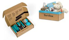 . Wildebeest Dog Starter Kit ($60) + Barkbox ($22 per month): It's better in a box! Wildebeest offers starter kits for new dog owners and Barkbox offers a monthly subscription. (It's like BritKits for your pup!)