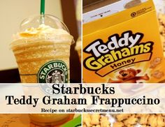 Teddy Grahams Frappuccino Start with a Coffee Frappuccino Add Cinnamon Dolce Syrup pump tall, 2 pumps grande, 3 pumps venti) Add Vanilla Syrup pump tall, 1 pump grande, pumps for a venti) Add honey Butterbeer Frappuccino, Coffee Frappuccino, Starbucks Coffee, Frappuccino Recipe, Graham Recipe, Cinnamon Dolce Syrup, Starbucks Secret Menu Drinks, Secret Menu Items, Teddy Grahams