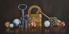 Mickie Acierno — Centre of Attention, 2015 Hyper Realistic Paintings, Small Paintings, Large Painting, Oil Paintings, Painting Still Life, Still Life Art, Hyperrealism, Everyday Objects, Illustration Art