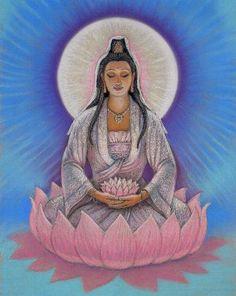 Goddess KUAN YIN meditation spiritual art by HalstenbergStudio